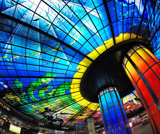 Formosa station in Kaohsiung Twaiwan one of the most photographed metro station in the world !