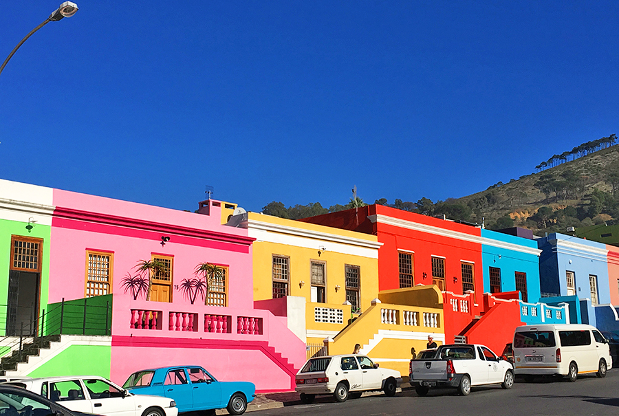 The colourful Bo-Kaap district in Cape Town Mother City