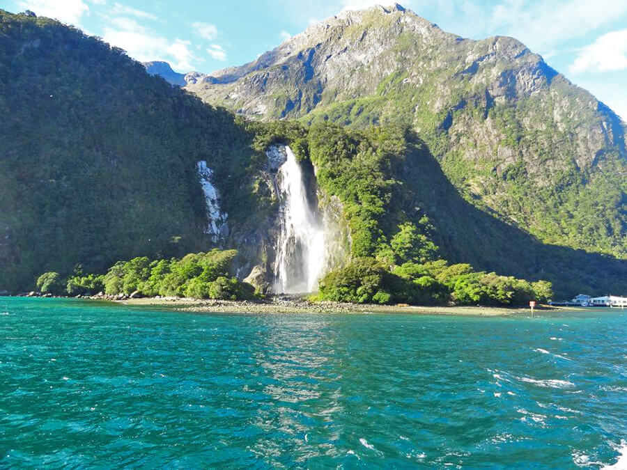 Boat tour in Milford Sound, South Island