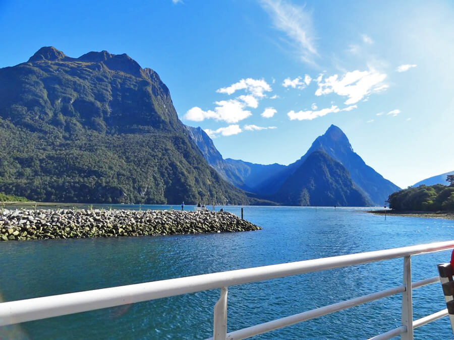 Tour boat of the Milford Sound
