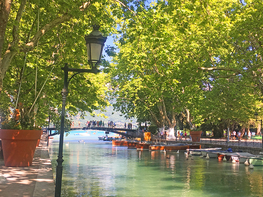 A romantic stroll at the Pont des Amours in Annecy