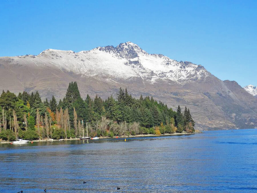 stunning view of Queenstown Lake