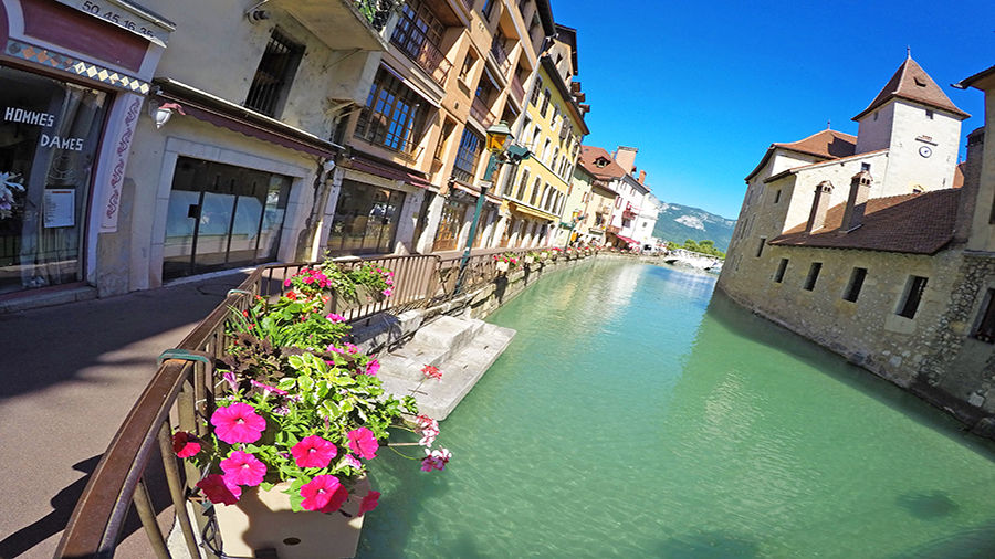 Annecy is nicknamed the Venice of the Alps
