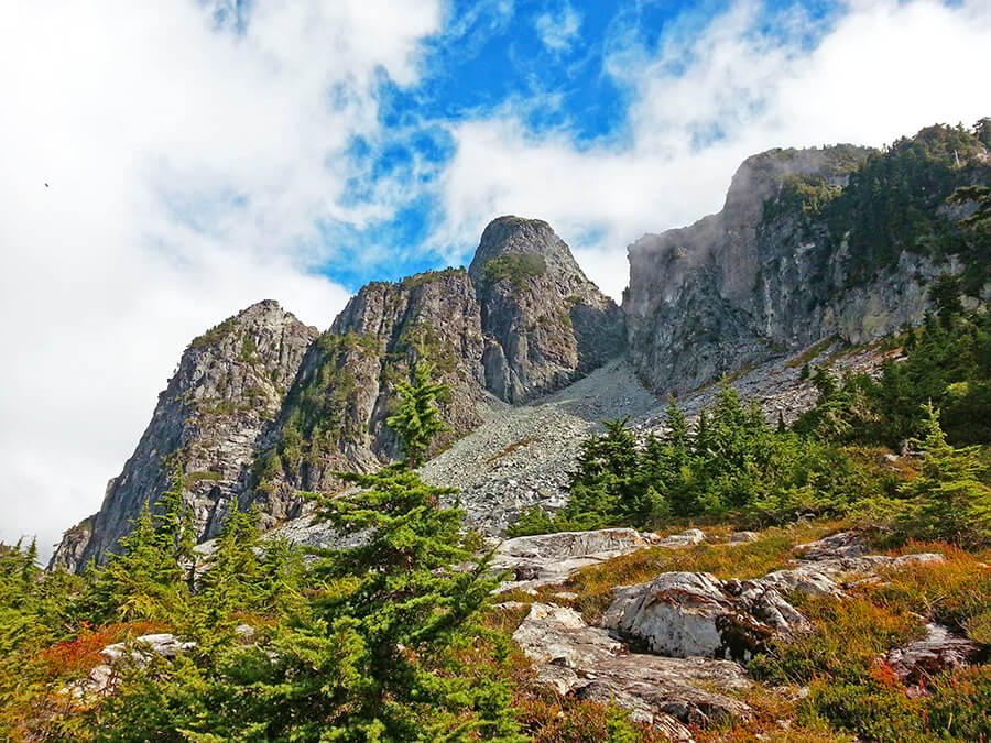 Making our way to the majestic Lions Peaks, one of the most strenuous hikes in Vancouver
