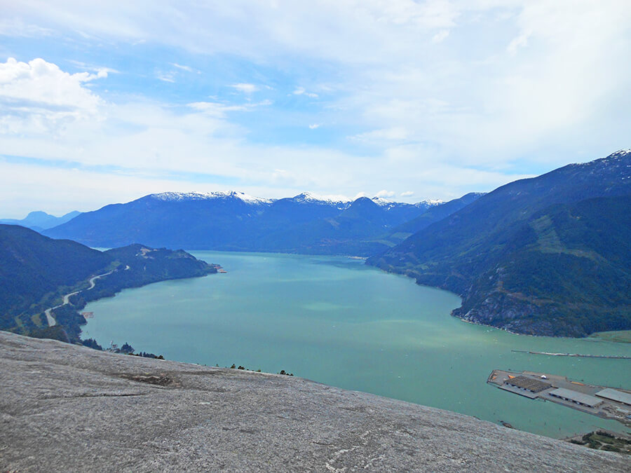 First peak, The Chief in Squamish is one of the most popular hikes in Vancouver area