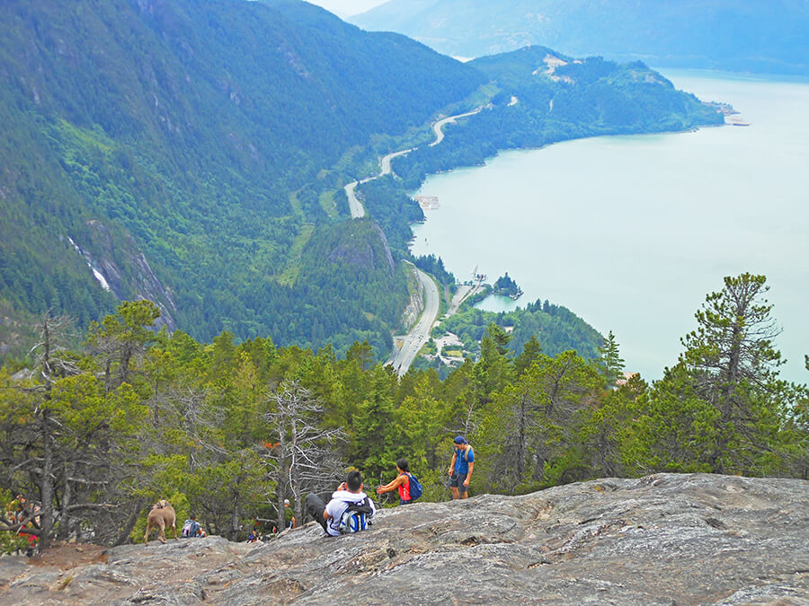 Hiking the First peak, The Chief in Squamish
