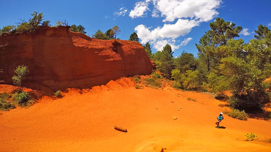 stunning orange clay at French colorado in Rustrel